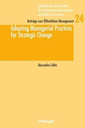 Adapting Managerial Practices for Strategic Change Buchcover