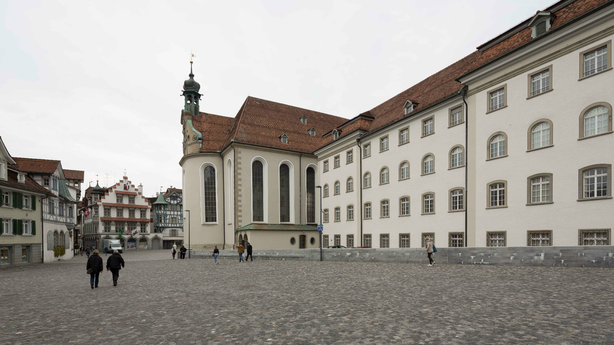 Town square called Klosterplatz in St.Gallen